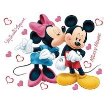 Samolepiaca dekorácia Minnie a Mickey, 42,5 x 65 cm