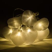 Heart LED fényfüzér, 10 LED