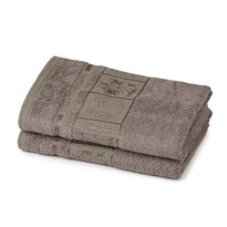 4Home Ručník Bamboo Premium šedá, 50 x 100 cm, sada 2 ks