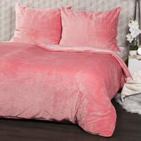 Lenjerie de pat 4Home microflanelă, roz, 140 x 200 cm, 70 x 90 cm