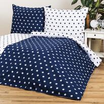 4Home Bavlněné povlečení Stars Navy blue
