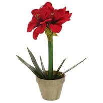 Umělá Vánoční Klívie v květináči červená, 30 cm