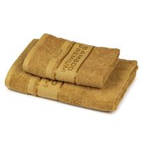4Home Sada Bamboo Premium osuška a ručník světle hnědá, 70 x 140 cm, 50 x 100 cm