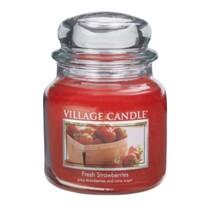 Village Candle Świeczka zapachowa Świeże truskawki - Fresh Strawberry, 397 g