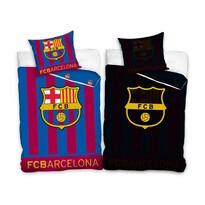 Bavlněné svíticí povlečení FC Barcelona Stripes, 140 x 200 cm, 70 x 80 cm