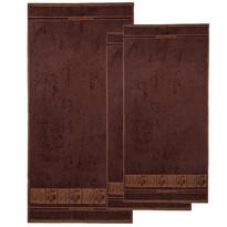 4Home Sada Bamboo Premium osuška a uterák hnědá, 70 x 140 cm, 2x 50 x 100 cm