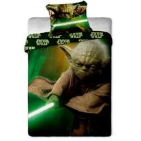 Dziecięca bawełniana pościel Star Wars Yoda, 140 x 200 cm, 70 x 90 cm