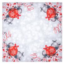 Karácsonyi díszek karácsonyi abrosz, 85 x 85 cm