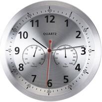 Nástenné hodiny Fremont strieborná, 35 cm