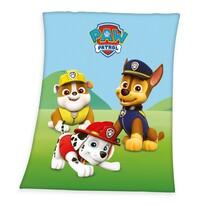 Koc dziecięcy Psi Patrol Rubble, Marshall a Chase, 130 x 160 cm