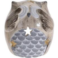 Keramický svietnik Blind Owl, 9 cm