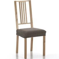 Multielastický potah na sedák na židli Sada hnědá, sada 2 ks