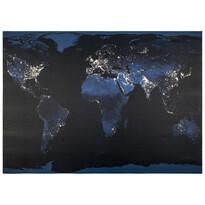 LED obraz na plátne Mapa sveta, 50 x 70 cm