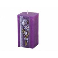 Lumânare sculptată Violeta, pătrată
