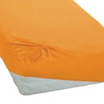 BedTex jersey prostěradlo žlutá, 180 x 200 cm