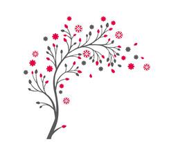 Stickere decorative flori înmiresmate