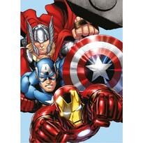 Koc dziecięcy pluszowy Avengers, 100 x 140 cm