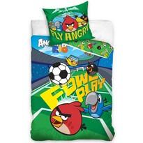 Dětské bavlněné povlečení Angry Birds Fotbalový, 140 x 200 cm, 70 x 80 cm