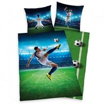 Pościel bawełniana Football, 140 x 200 cm, 70 x 90 cm