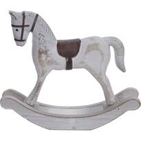 Dekorační houpací kůň Flavio bílá, 13,5 cm