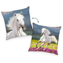 Polštářek Kůň bílá, 40 x 40 cm