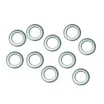 Inele de draperie, argintiu mat, set 10 buc., 3,5 / 5,5 cm