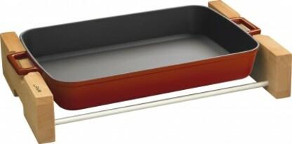 Lava Litinový pekáč s dřevěným podstavcem 26 x 40 cm