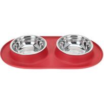 Podwójna miska dla psa Bowl, czerwony