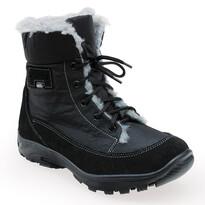 Santé dámská zimní obuv s kožíškem černá, 38