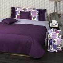 4Home Doubleface ágytakaró, lila/világos-lila, 220 x 240 cm, 2x 40 x 40 cm