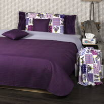 4Home Prehoz na posteľ Doubleface fialová/svetlof ialová, 220 x 240 cm, 2x 40 x 40 cm