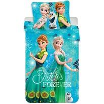 Dětské bavlněné povlečení Ledové království Frozen sisters forever, 140 x 200 cm, 70 x 90 cm