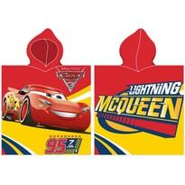 Dětské pončo Cars McQueen červená, 50 x 100 cm