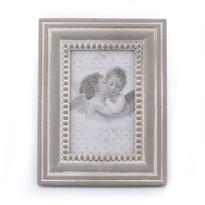 Drevený fotorámček Cupido, sivá