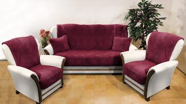 4Home Prehozy na sedaciu súpravu Baránok vínová, 150 x 200 cm, 2 ks 65 x 150 cm