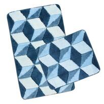 Komplet dywaników łazienkowych Ultra Kostka , 60 x 100 cm, 60 x 50 cm