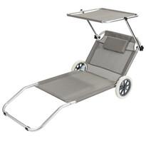Lehátko plážový vozík sivá