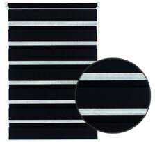 Roleta easyfix podwójna czarny, 75 x 150 cm