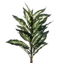 Sztuczny kwiat Difenbachia maculata zielono-kremow