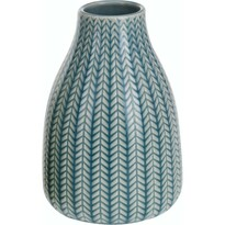 Vază din porţelan Knit, albastru, 16 cm
