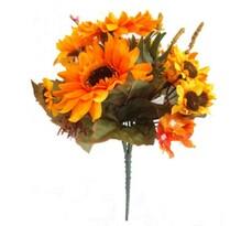 Umělá květina kytice slunečnic a hortenzií