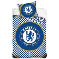 Pościel bawełniana FC Chelsea Circle, 140 x 200 cm, 70 x 80 cm