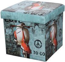 Skládací sedací box s potiskem motorka