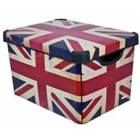 Curver BRITISH FLAG úložný box dekorativní velký