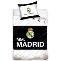 Bavlněné povlečení Real Madrid Black Belt, 140 x 200 cm, 70 x 80 cm