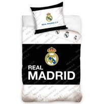 Lenjerie bumbac Real Madrid Black Belt, 140 x 200 cm, 70 x 80 cm