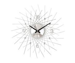 Nástenné hodiny Lavvu Crystal Lines strieborná, pr. 49 cm