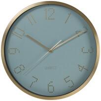 Nástěnné hodiny Puntos modrá, pr. 30 cm