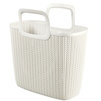 Curver 03672-X64 nákupní taška Knit 25 l, krémová