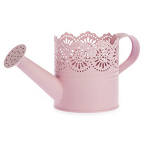 Kovová kanvička Lace ružová, pr. 10 cm